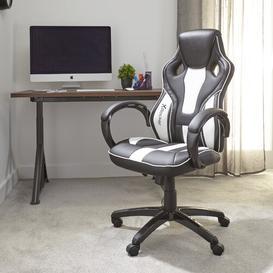 image-Maverick Gaming Chair X Rocker Upholstery Colour: Black