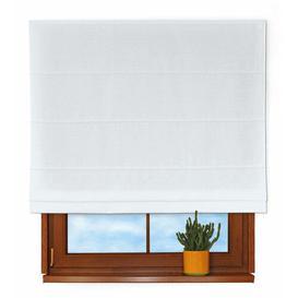 image-Panama Roman Blind Dekoria Size: 170 cm L x 100 cm W, Colour: Cream / White