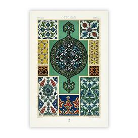 image-'Ottoman Pattern' by Albert Racinet - Unframed Painting Print on Paper Big Box Art Size: 42 cm H x 29.7 cm W