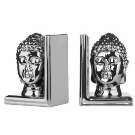 image-Buddha Head Bookends Symple Stuff