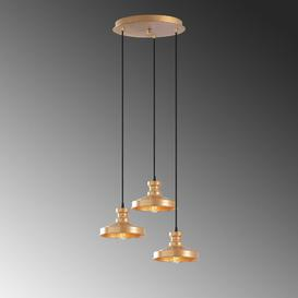 image-Marler 3-Light Cluster Cone Pendant Brambly Cottage Finish: Copper