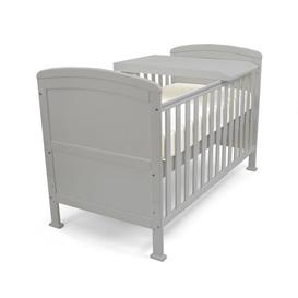 image-Lunsford Cot Bed with Mattress Isabelle & Max Colour: Grey, Mattress Type: Modal Pocket Sprung Mattress, Drawer Included: Yes