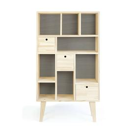 image-Organizer 130cm Bookcase Ebern Designs Colour: Ice Grey