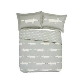 image-Scion Mr Fox Double Duvet Cover, Silver
