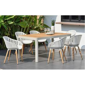 image-Cannes - Garden Dining Set  6 Seats - White