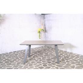 image-Bounton Aluminium Dining Table Sol 72 Outdoor Size: 75 cm H x 160 cm L x 90 cm W