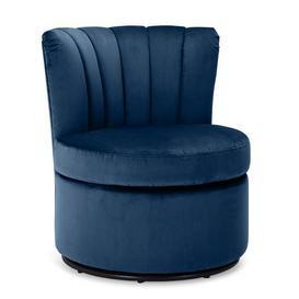 image-Esme Boudoir Swivel Chair - Midnight Blue Midnight (Blue)