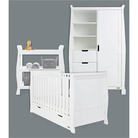 image-Stamford Cot Bed 3-Piece Nursery Furniture Set Obaby Colour: White