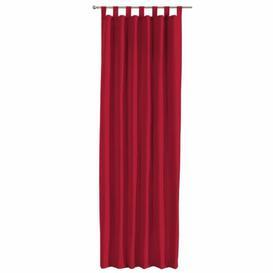 image-Panama Tab Top Single Curtain Dekoria Size per Panel: 130 W x 260 D cm, Colour: Red