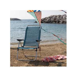 image-Light Blue Fold Up Deck Chair