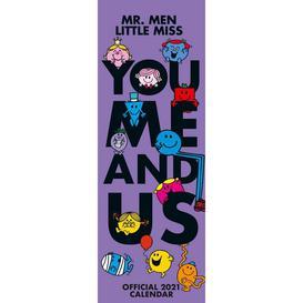 image-Mr Men (You&#44 Me and Us) 2021 Slim Calendar