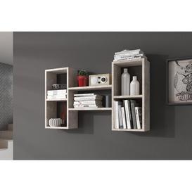 image-Valparaiso Wall Shelf Brayden Studio Finish: Concrete