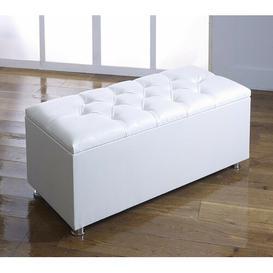 image-Poulsen Storage Ottoman Mercury Row Upholstery Colour: White