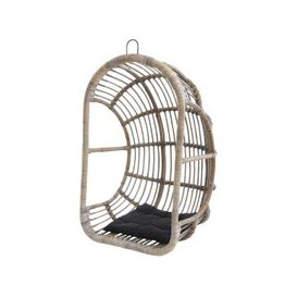 image-Toba Rattan Hanging Egg Chair with Cushion