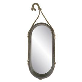 image-Oval Wood / Rope Mirror Longshore Tides