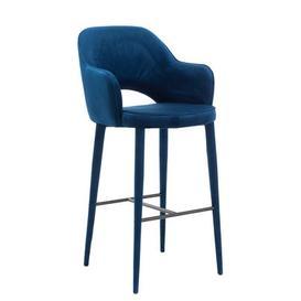 image-Cosy Bar chair - / Velvet - H 75 cm by Pols Potten Blue