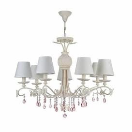image-Freshour 7-Light Shaded Chandelier Fleur De Lis Living