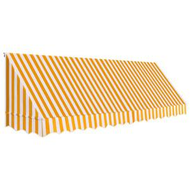 image-W 1.2 x D 4m Door Awning Sol 72 Outdoor Colour: Orange/White
