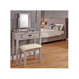 image-Matilda Dressing Table Grey & Pine 1 Drawer