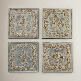 image-4 Piece Metal Wall Decor Set Lily Manor