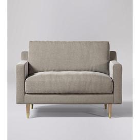 image-Swoon Rieti Love Seat in Llama Smart Wool With Light Feet