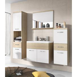 image-Gutierez Bathroom Furniture Set Mercury Row Furniture Finish (Front / Body): White/Light Wood