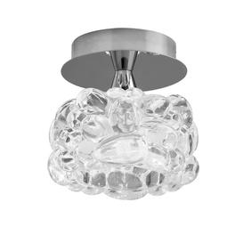 image-Mantra M3926 O2 1 Light Small Flush Ceiling Light In Chrome With Clear Glass