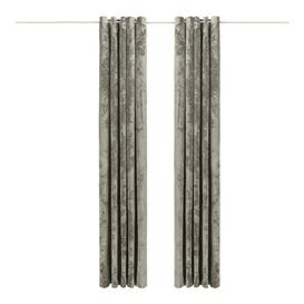 image-Reiban Eyelet Room Darkening Curtains Rosdorf Park Colour: Silver, Size per Panel: 117 W x 183 D cm