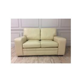 image-Sloane 2 seaterr sofa in Winchester Leather Ivory plus storage ottoman