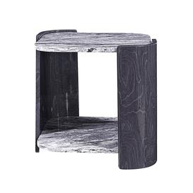 image-Jual Sorrento High Gloss Furniture Slate Grey Square Lamp Table