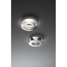 image-Faretti Recessed Lighting Kit Fabbian Finish: Transparent/Polished Steel, Bulb: GU10