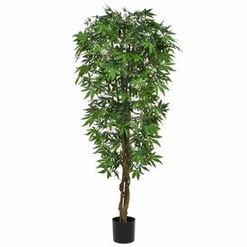 image-Artificial Japanese Maple Tree Bloomsbury Market Flower/Leaves Colour: Green