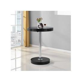 image-Havana Round Bar Table In Black High Gloss