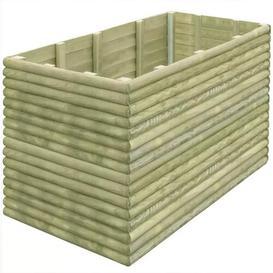 image-Garden Wood Planter Box Freeport Park Size: 96cm H x 150cm W x 106cm D