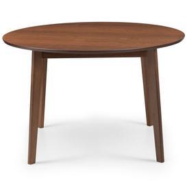 image-Julian Bowen Farringdon 120cm Walnut Circular Dining Table