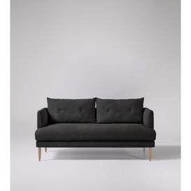 image-Swoon Kalmar Two-Seater Sofa in Slate Smart Leather With Light Feet