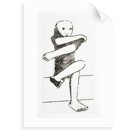 image-'Seated Child' Drawing Print East Urban Home Format: Unframed Paper, Size: 70 cm H x 50 cm W x 0.2 cm D