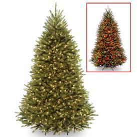 image-7.5ft LED Dunhill Fir Christmas Tree Green