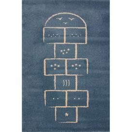 image-Blue Area Rug Art for kids Rug Size: Rectangle 135 x 190cm