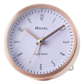 image-Newbury Analog Quartz Alarm Tabletop Clock Ravel