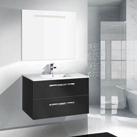 image-Taku 1000mm Wall Mount Vanity Unit Belfry Bathroom Base Finish: Black