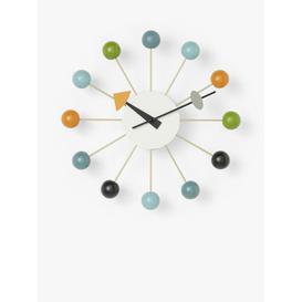 image-Vitra George Nelson Ball Analogue Wall Clock, 33cm, Multi