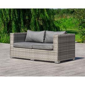 image-2 Seat Rattan Garden Sofa in Grey - Ascot - Rattan Direct