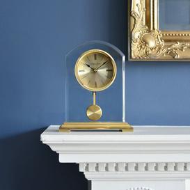 image-Gold Arch Pendulum Mantel Clock London Clock Company
