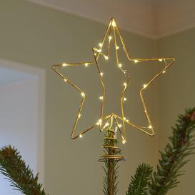 image-Sirius - Christina Christmas Tree Topper - Gold - Small