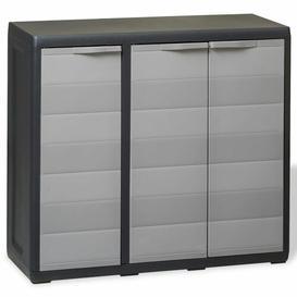 "image-""Garden 34"""" H x 38"""" W x 15"""" D Storage Cabinet with 2 Shelves Bloomsbury Market Finish: Grey"""