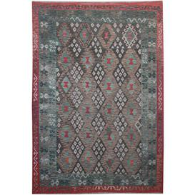 image-Bricher Traditional Handmade Kilim Wool Brown/Red/Blue Rug Bloomsbury Market