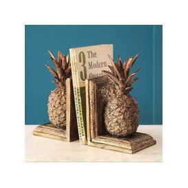 image-Golden Pineapple Bookends