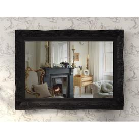 image-Adame Accent Mirror Fleur De Lis Living Finish: Black, Size: 122 cm H x 97 cm W