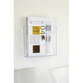 image-Acrylic Magazine Wall Holder Symple Stuff